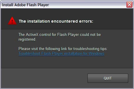 flash player activex 11.9